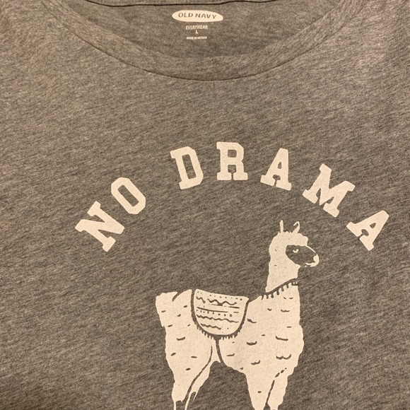 4f3ff5be0 Old Navy Tops | Nwot No Drama Llama Shirt | Poshmark